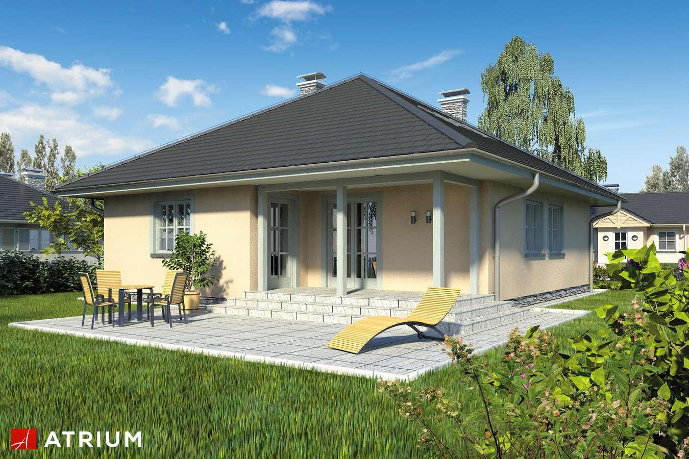 Projekty domów - Projekt domu z poddaszem PELIKAN - wizualizacja 2