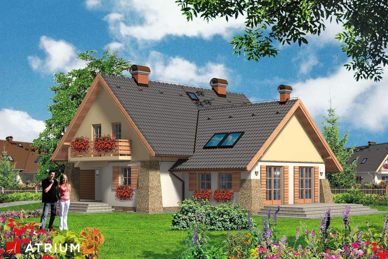 Projekty domów - Projekt domu z poddaszem VIVALDI - wizualizacja 1