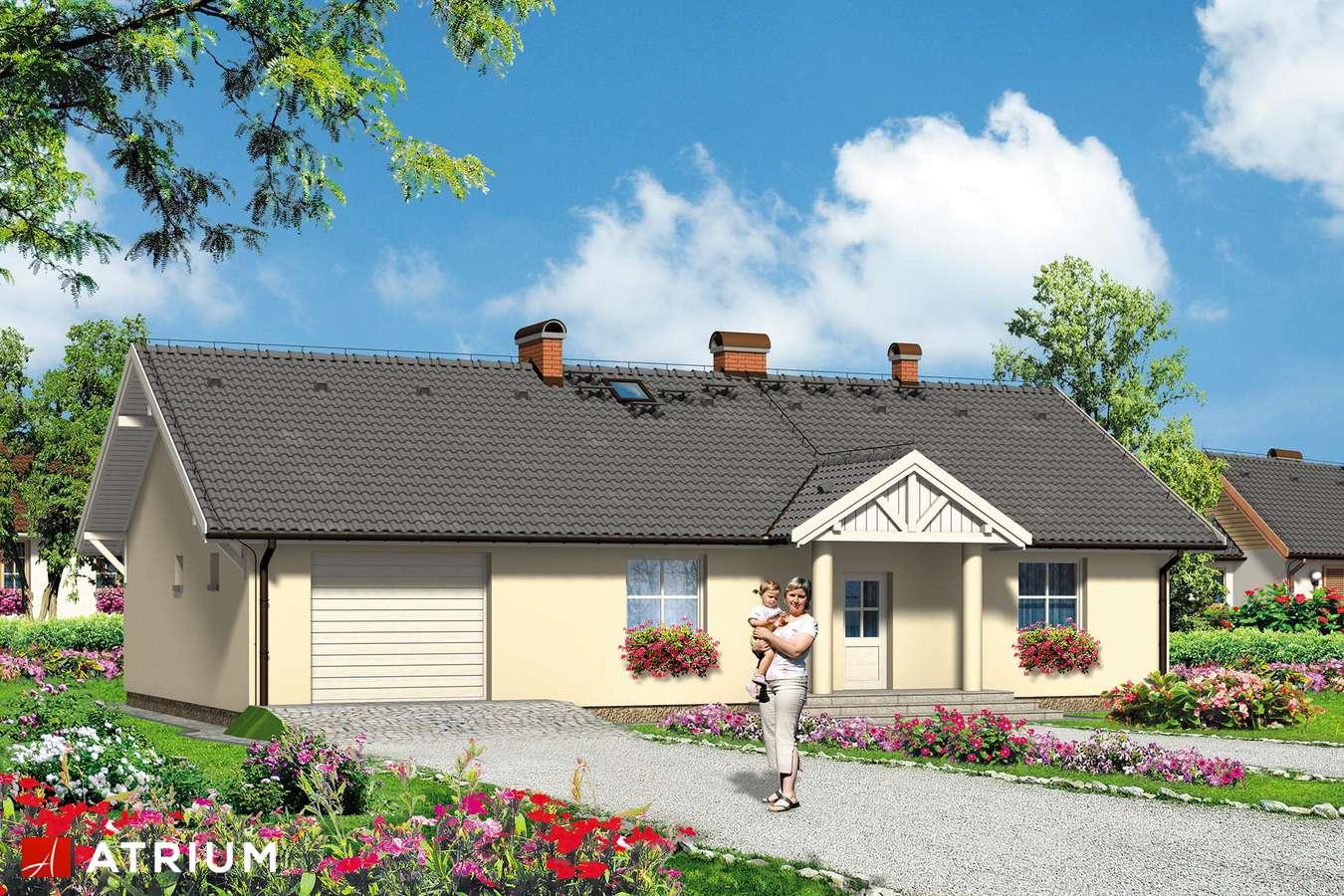 Projekty domów - Projekt domu parterowego DWOREK ALI - wizualizacja 1