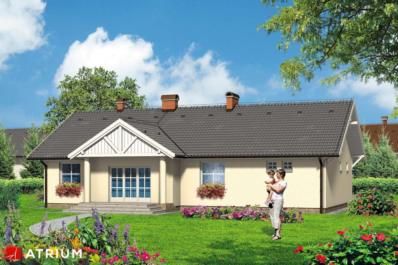 Projekty domów - Projekt domu parterowego DWOREK ALI - wizualizacja 2
