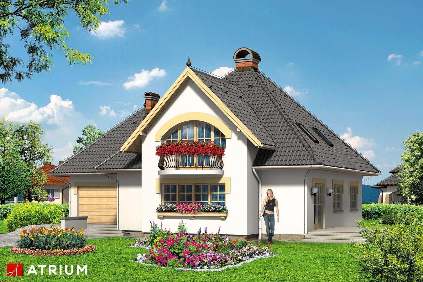 Projekty domów - Projekt domu z poddaszem WILLA AMANDA - wizualizacja 1