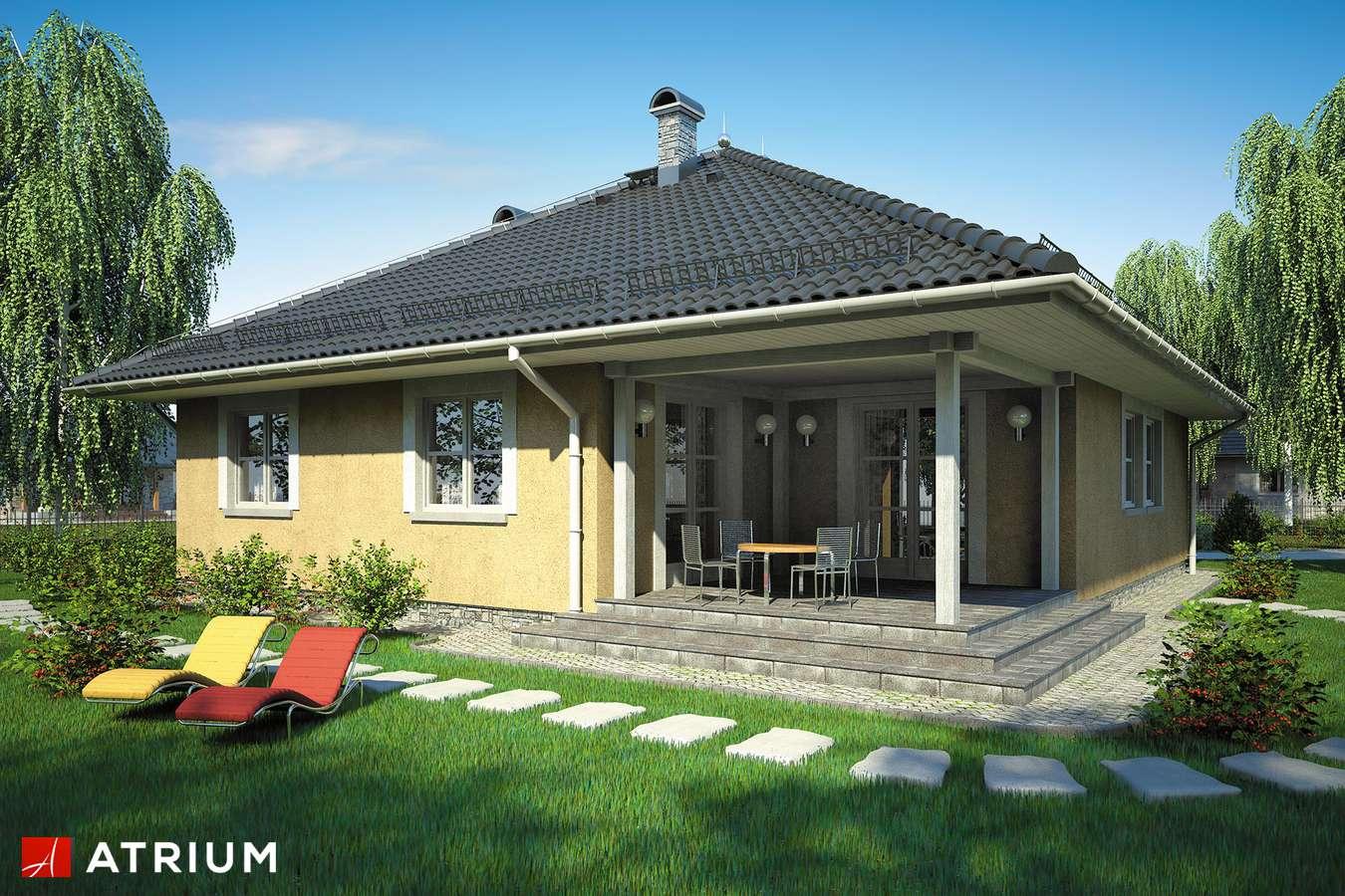 Projekty domów - Projekt domu parterowego KALIFORNIA - wizualizacja 2