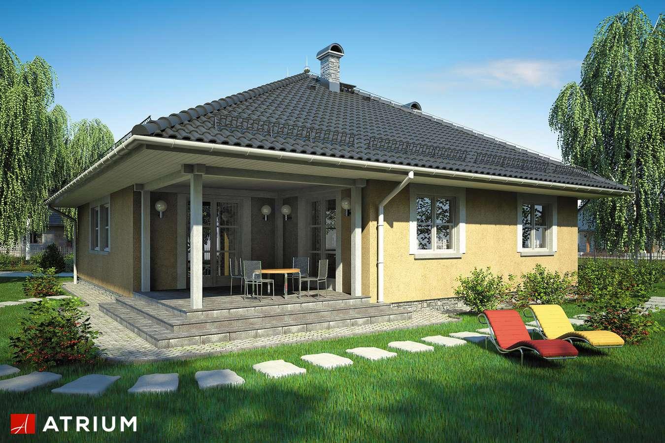 Projekty domów - Projekt domu parterowego KALIFORNIA - wizualizacja 2 - wersja lustrzana