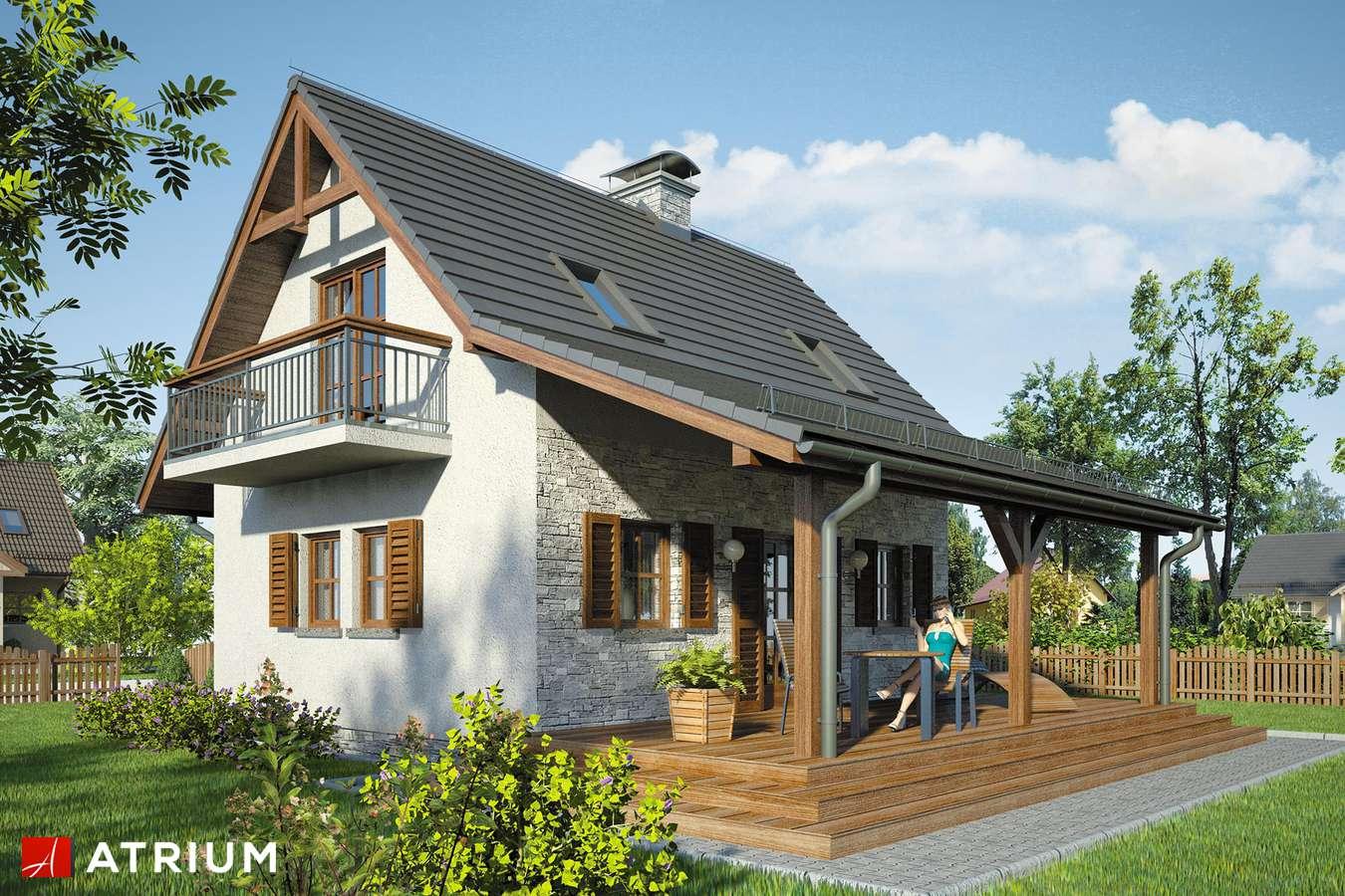 Projekty domów - Projekt domu z poddaszem LILIA II - wizualizacja 2