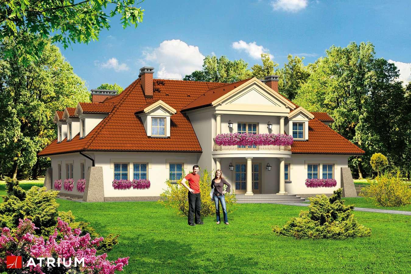 Projekty domów - Projekt domu z poddaszem WILLA PREZYDENT - wizualizacja 1