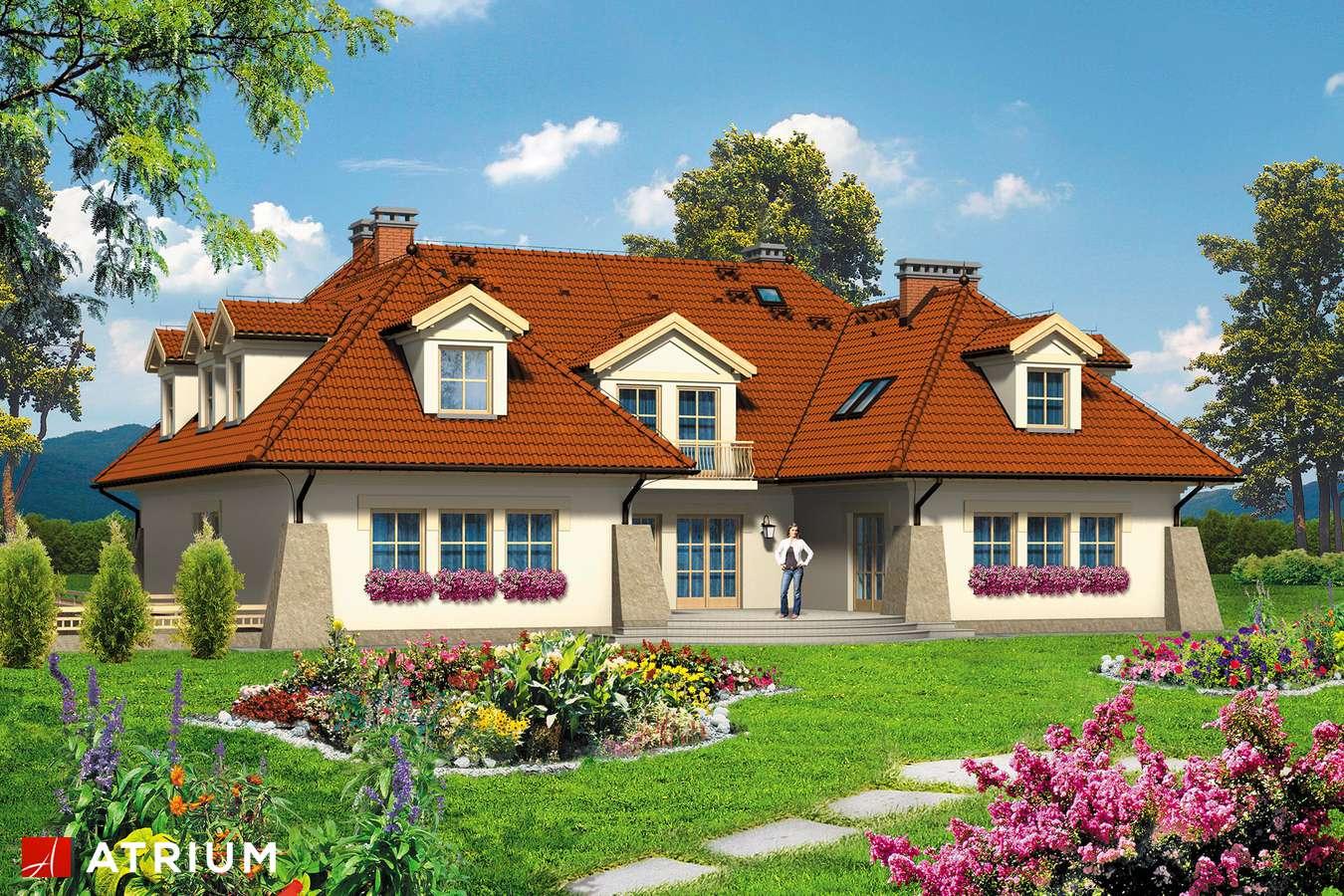 Projekty domów - Projekt domu z poddaszem WILLA PREZYDENT - wizualizacja 2