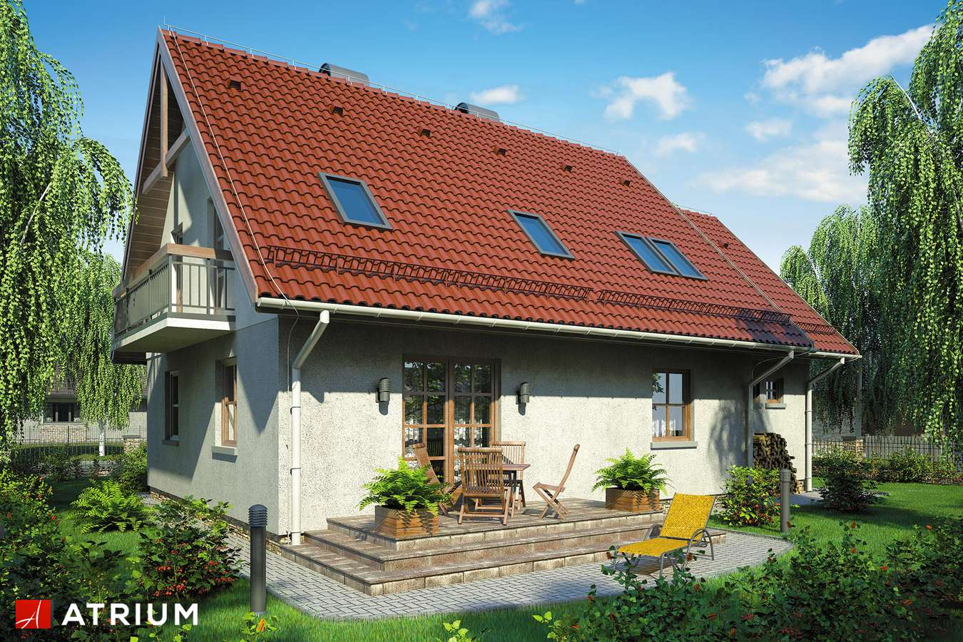 Projekty domów - Projekt domu z poddaszem ZOśKA - wizualizacja 2