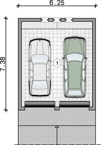 Rzut garażu