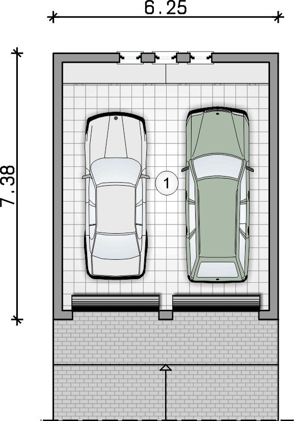 rzut garażu - Garaż Z 8