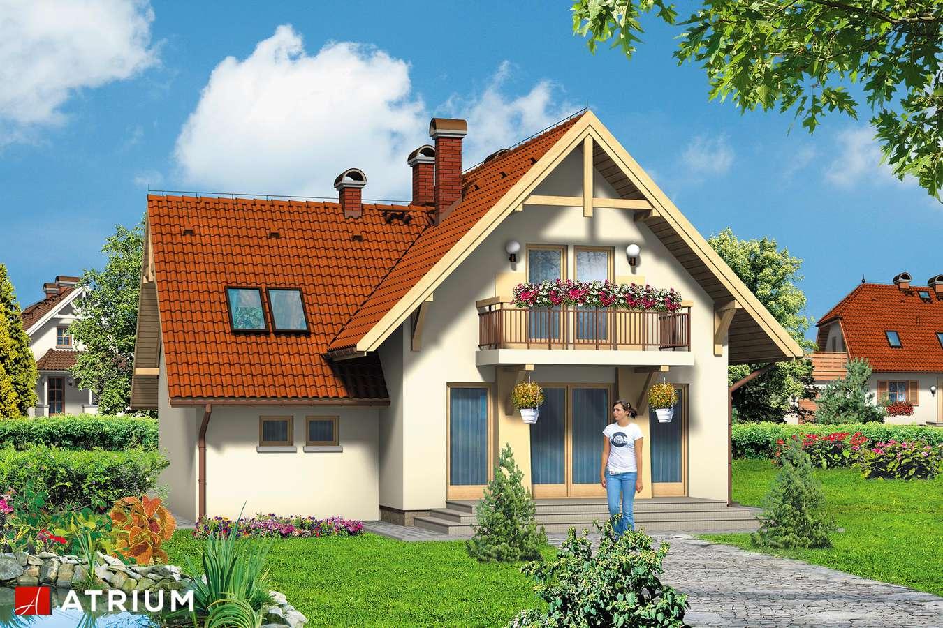 Projekty domów - Projekt domu z poddaszem HARFA II - wizualizacja 1