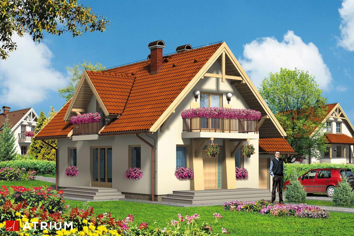 Projekty domów - Projekt domu z poddaszem HARFA II - wizualizacja 2