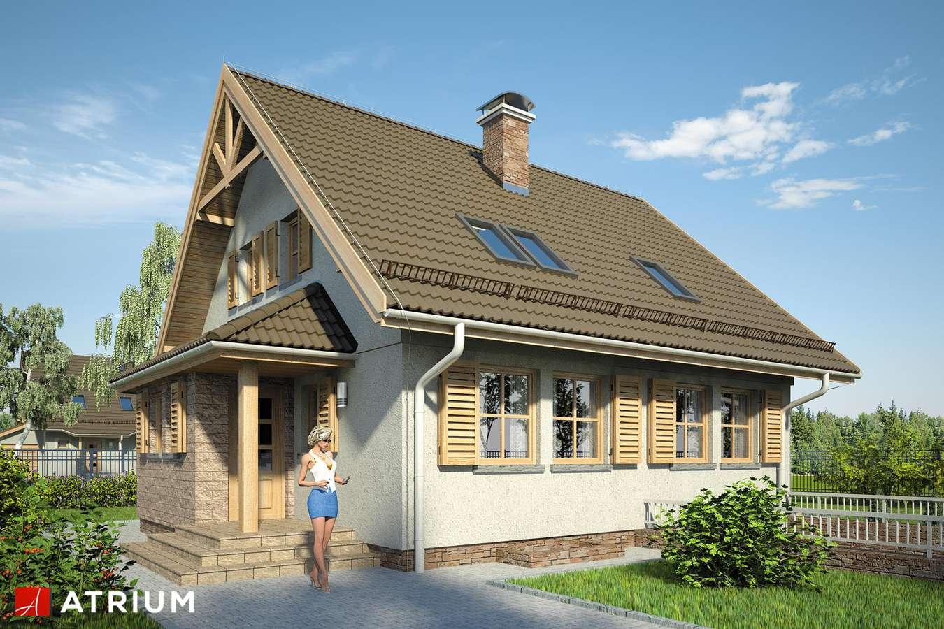 Projekty domów - Projekt domu z poddaszem RADOść - wizualizacja 1