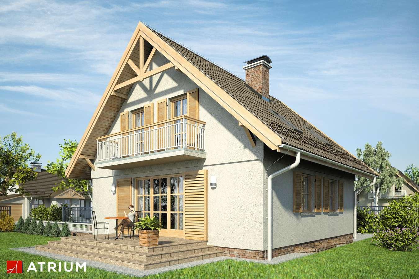 Projekty domów - Projekt domu z poddaszem RADOść - wizualizacja 2
