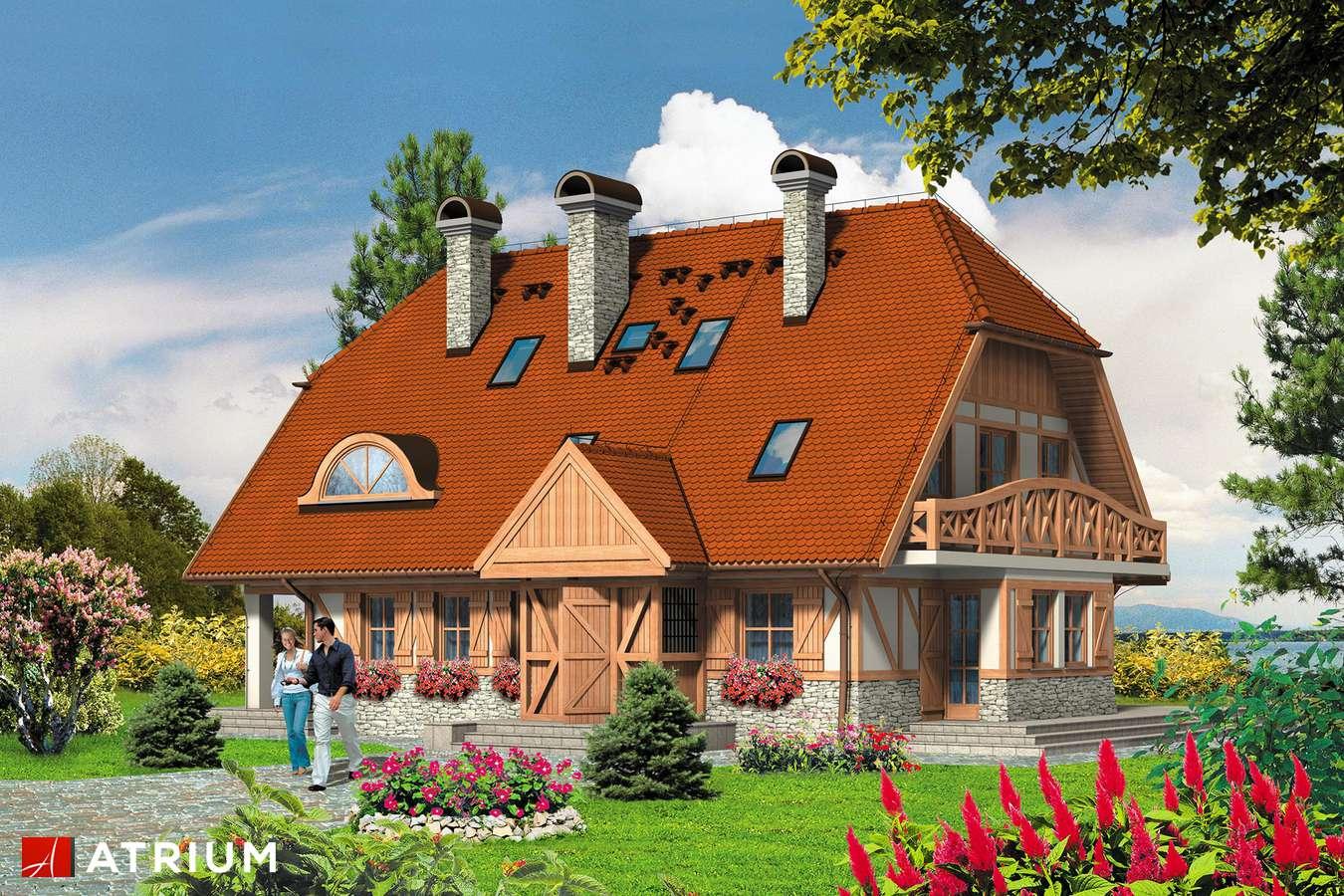 Projekty domów - Projekt domu z poddaszem DWA MICHAłY - wizualizacja 1