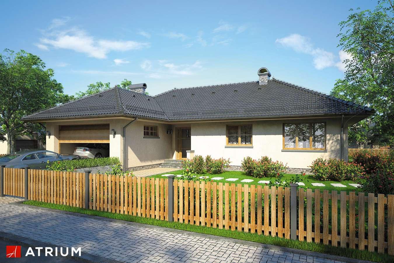 Projekty domów - Projekt domu parterowego DOM PRZY GOśCIńCU - wizualizacja 1