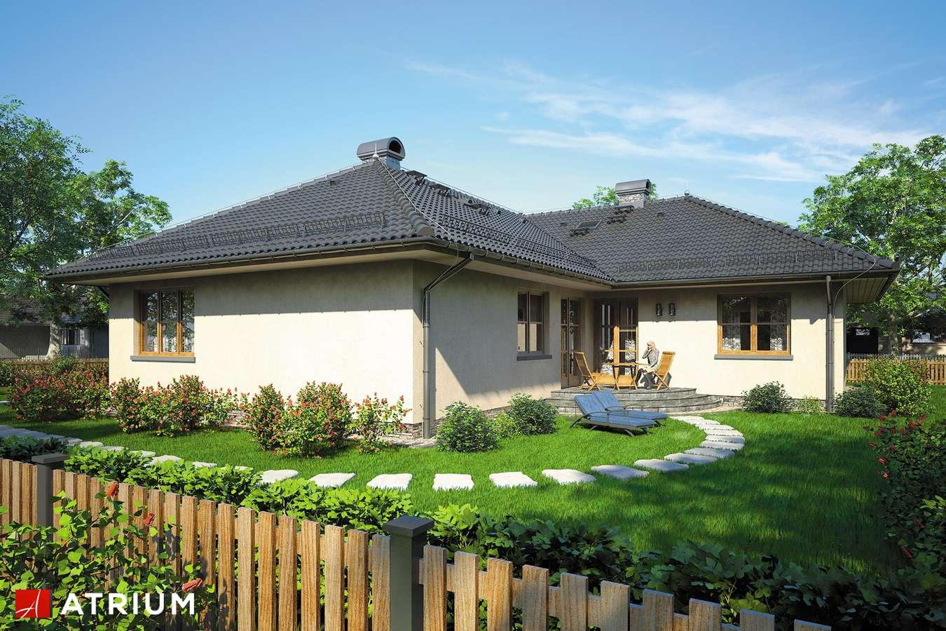 Projekty domów - Projekt domu parterowego DOM PRZY GOśCIńCU - wizualizacja 2