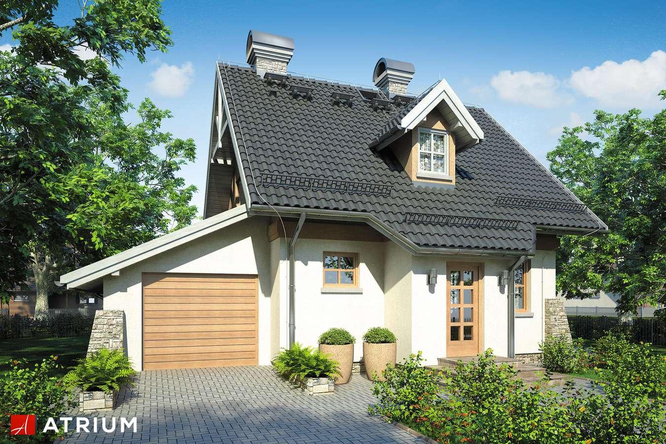 Projekty domów - Projekt domu z poddaszem PEREłKA - wizualizacja 1