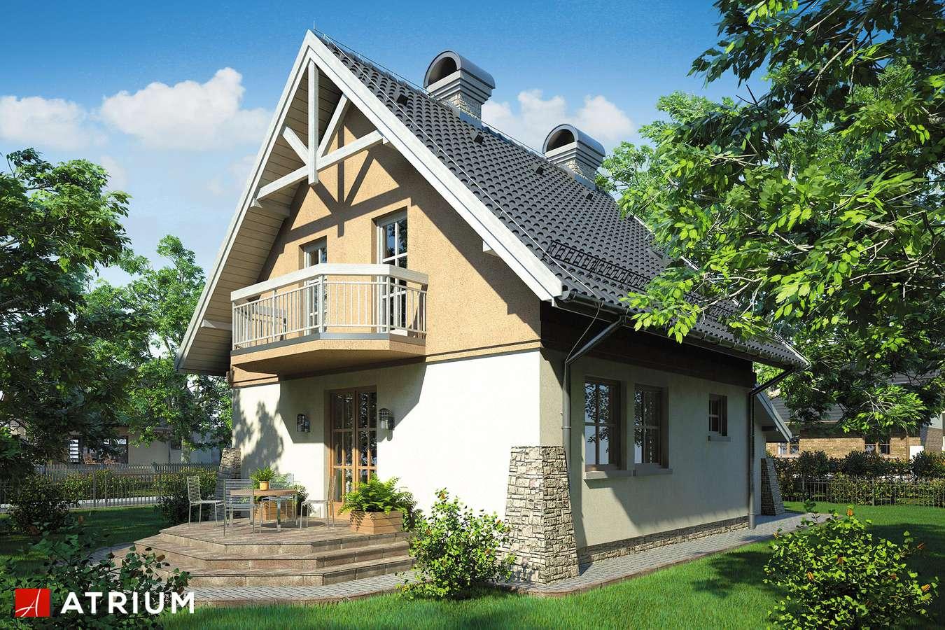 Projekty domów - Projekt domu z poddaszem PEREłKA - wizualizacja 2