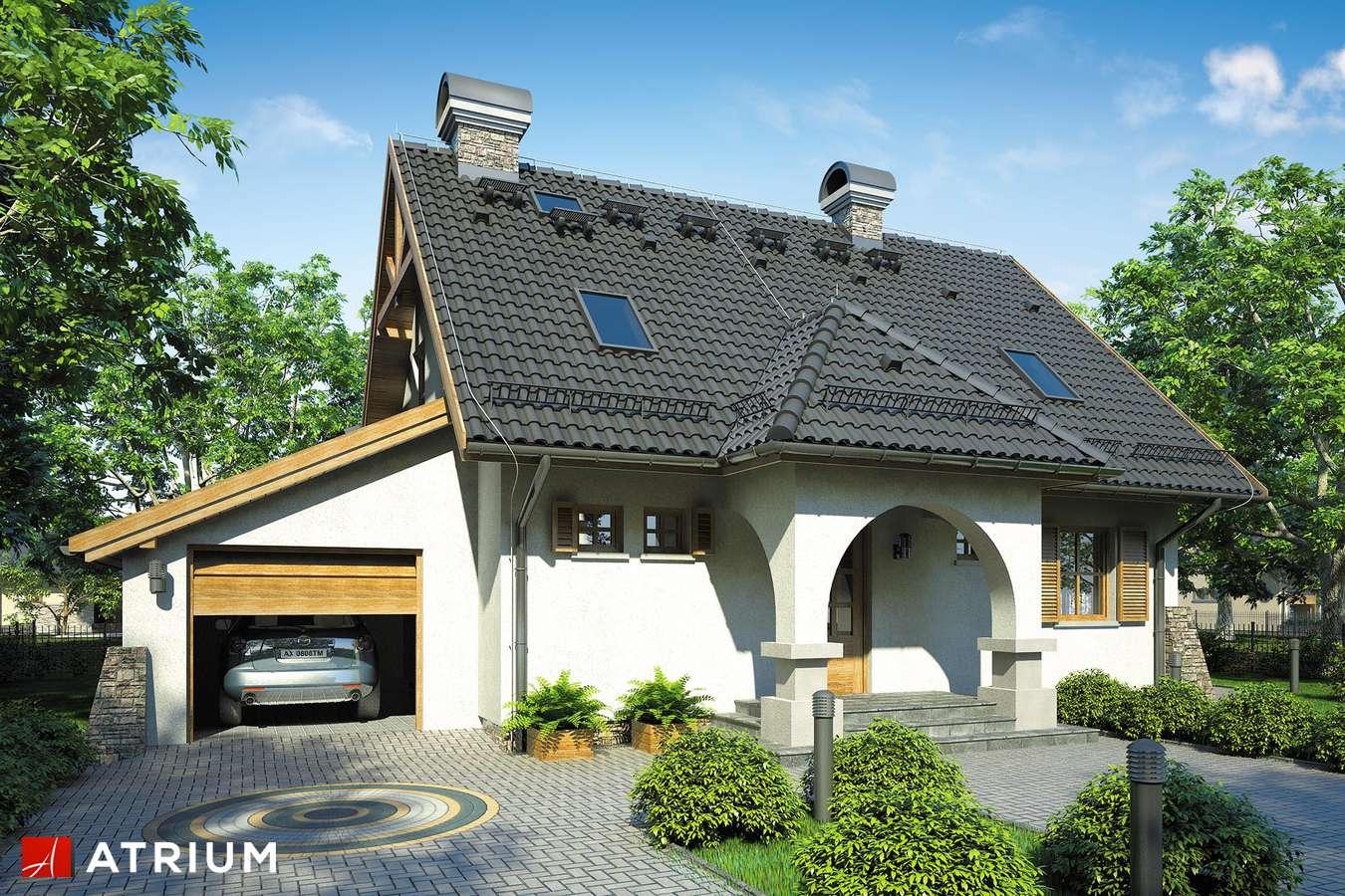 Projekty domów - Projekt domu z poddaszem BAJKOWA CHATA - wizualizacja 1
