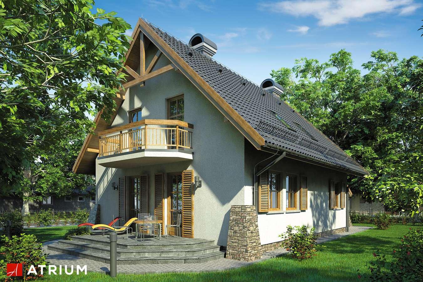 Projekty domów - Projekt domu z poddaszem BAJKOWA CHATA - wizualizacja 2