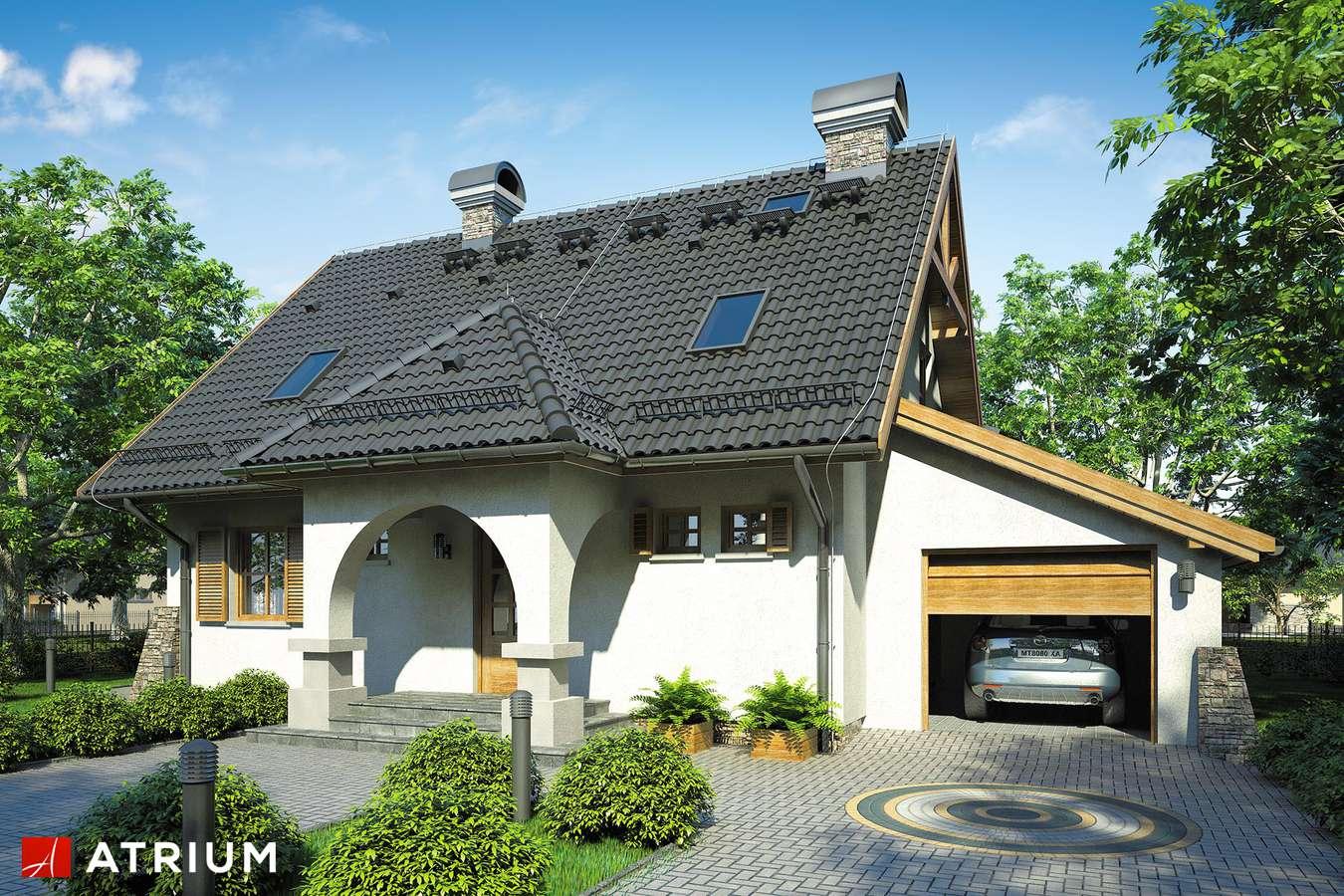 Projekty domów - Projekt domu z poddaszem BAJKOWA CHATA - wizualizacja 1 - wersja lustrzana