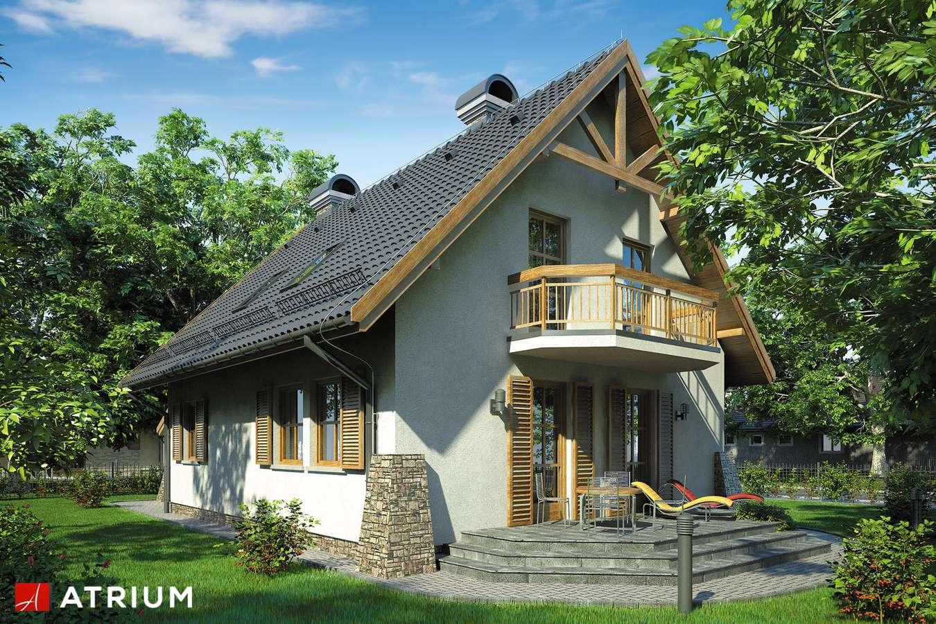 Projekty domów - Projekt domu z poddaszem BAJKOWA CHATA - wizualizacja 2 - wersja lustrzana