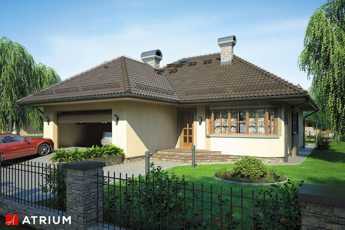 Projekty domów - Projekt domu parterowego HACJENDA - wizualizacja 1