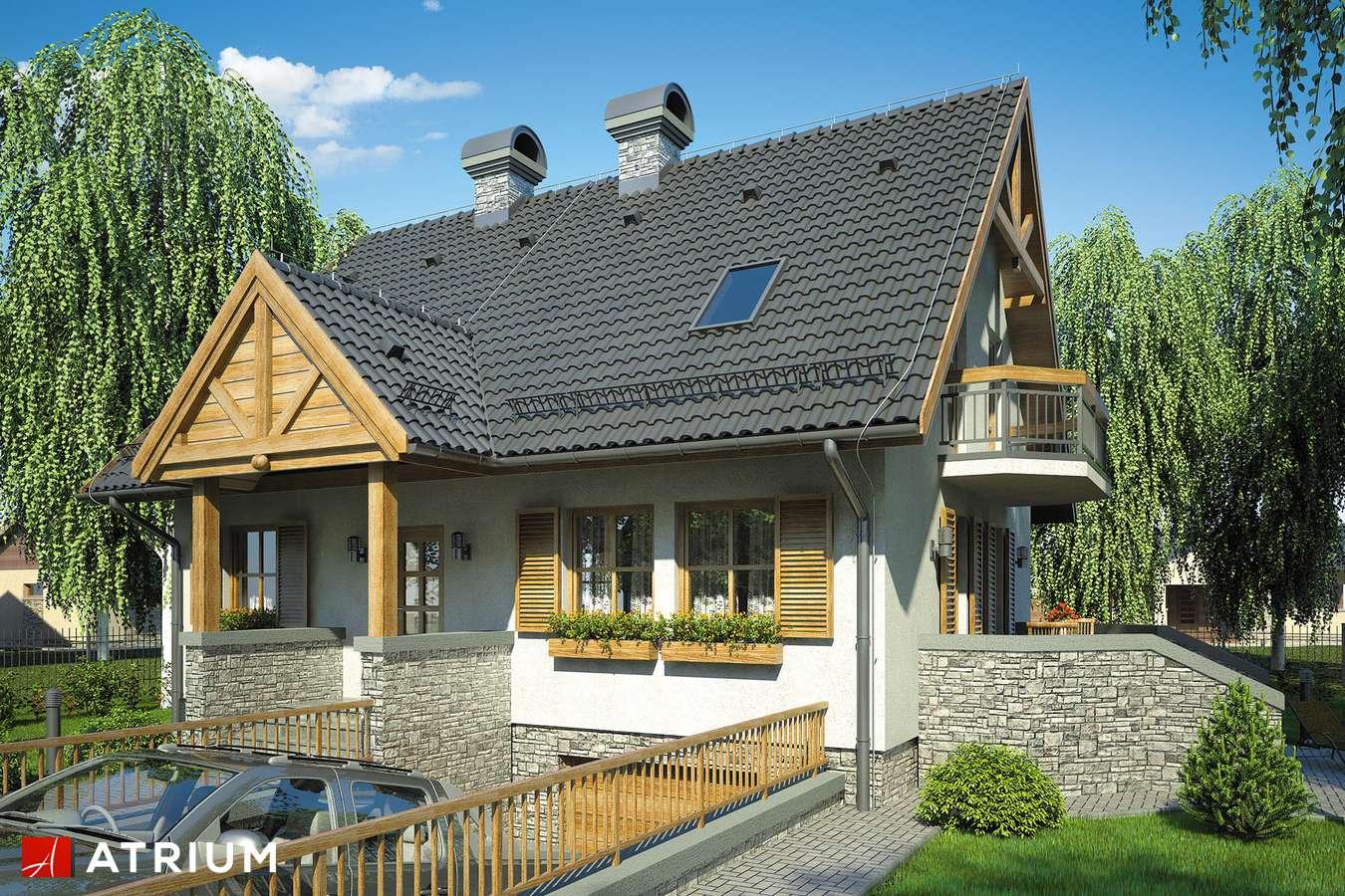 Projekty domów - Projekt domu z poddaszem RUMIANKOWA CHATA - wizualizacja 1