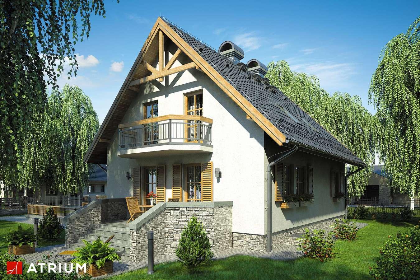 Projekty domów - Projekt domu z poddaszem RUMIANKOWA CHATA - wizualizacja 2