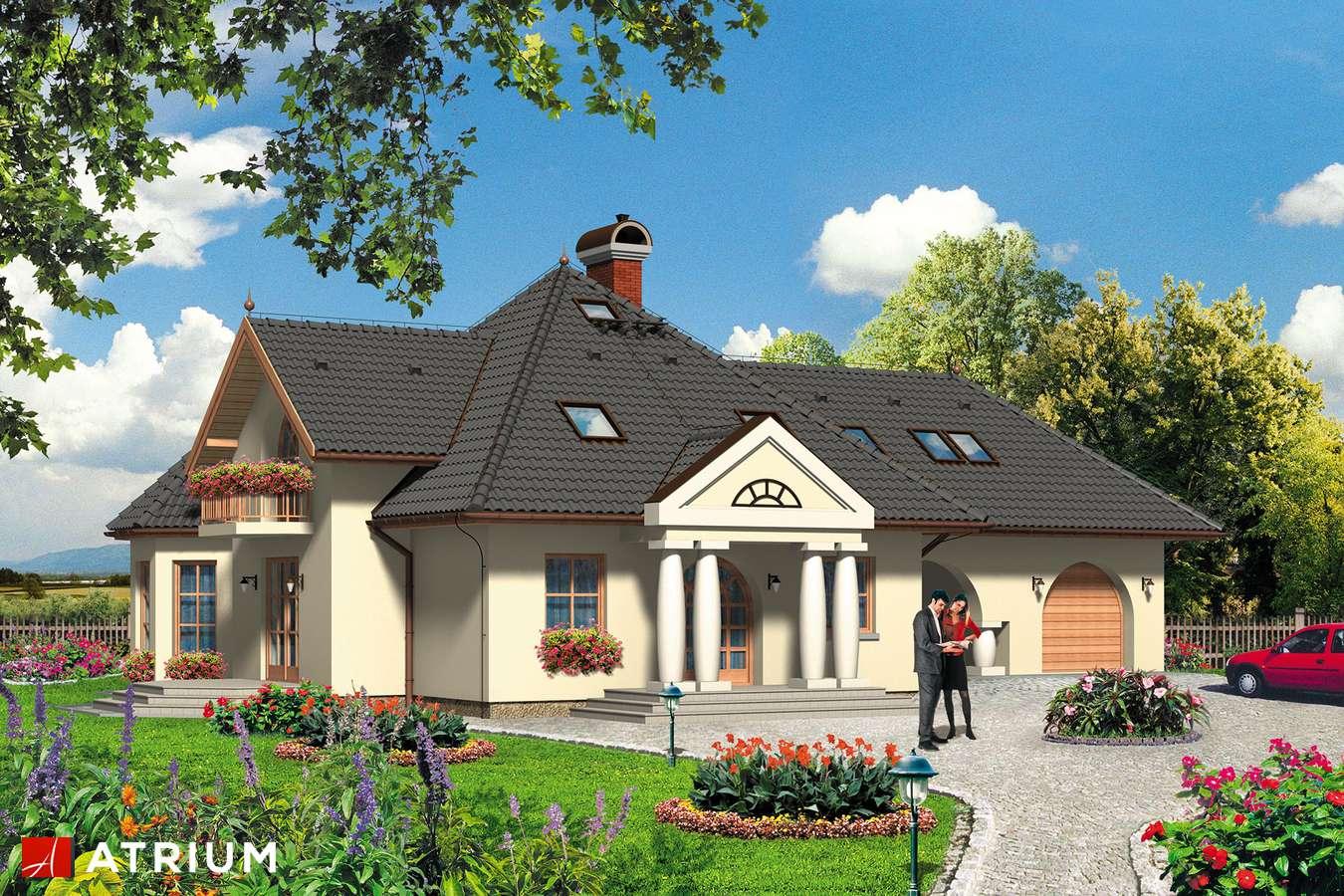 Projekty domów - Projekt domu z poddaszem CUKIEREK - wizualizacja 1
