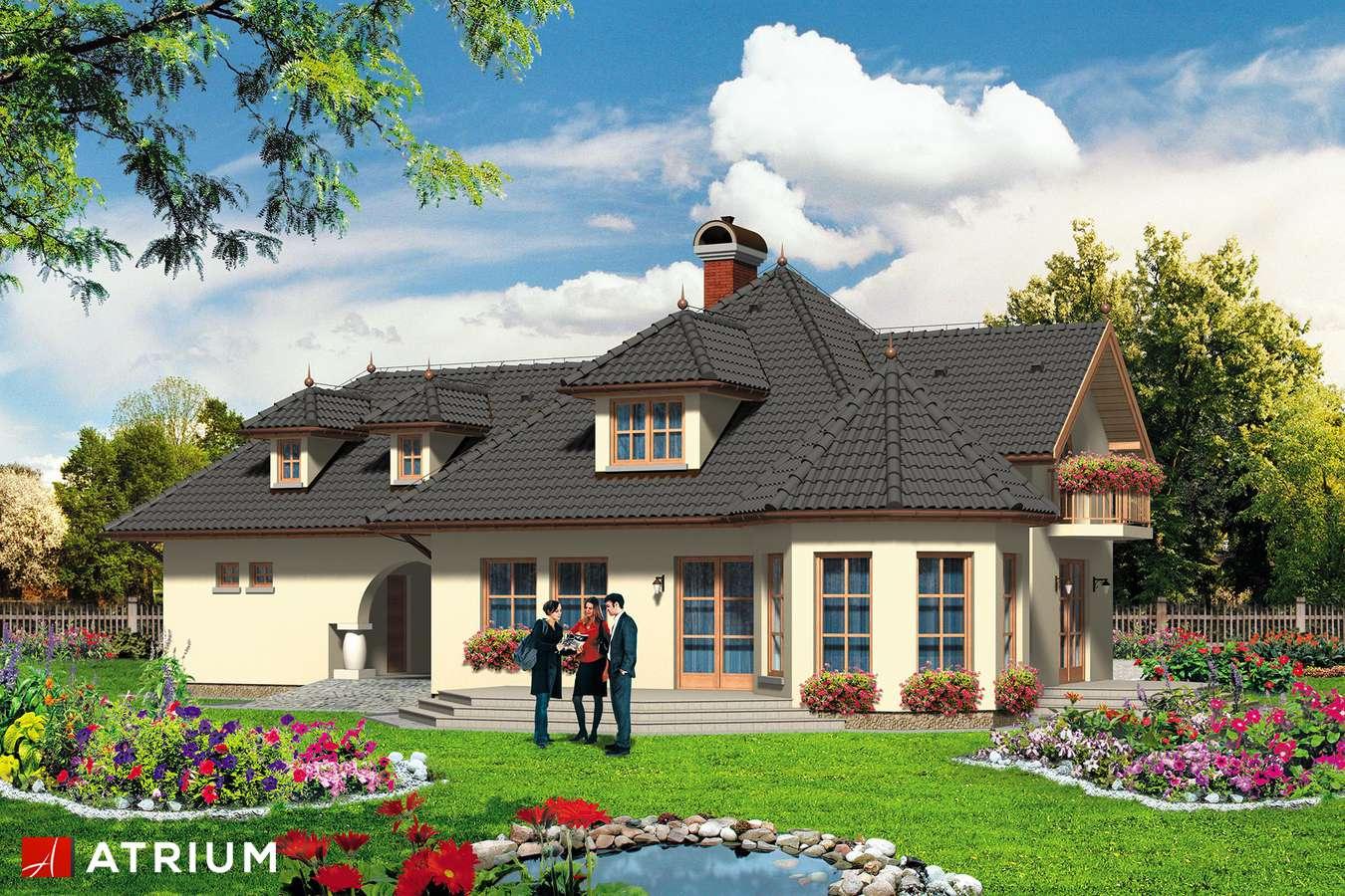 Projekty domów - Projekt domu z poddaszem CUKIEREK - wizualizacja 2