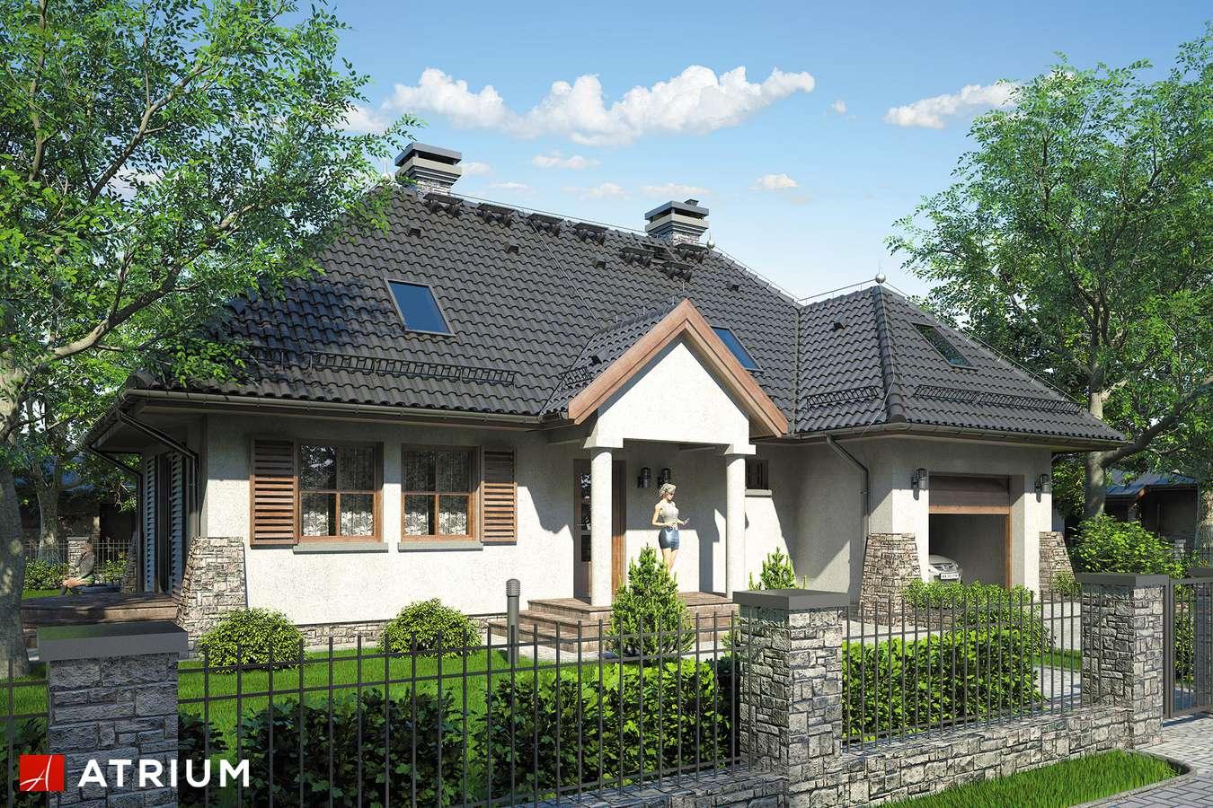 Projekty domów - Projekt domu z poddaszem ROMANTYK - wizualizacja 1
