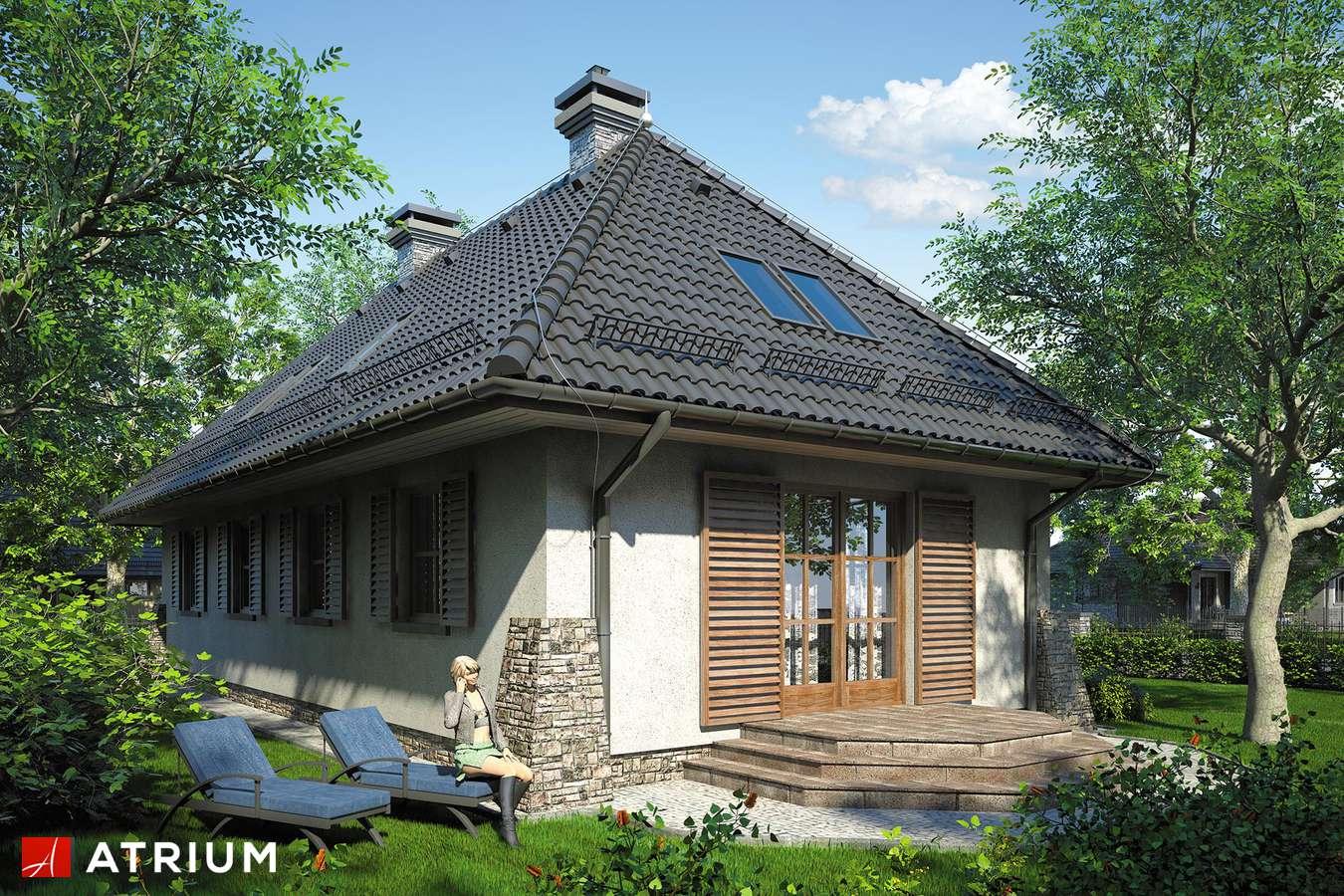 Projekty domów - Projekt domu z poddaszem ROMANTYK - wizualizacja 2