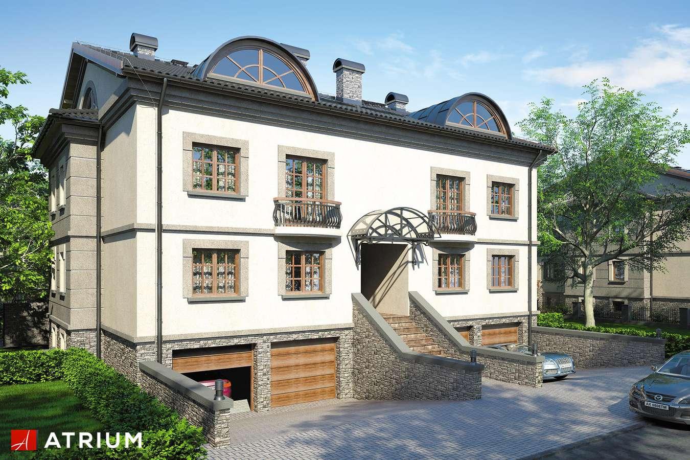 Projekty domów - Projekt domu z poddaszem QUATTRO - wizualizacja 1