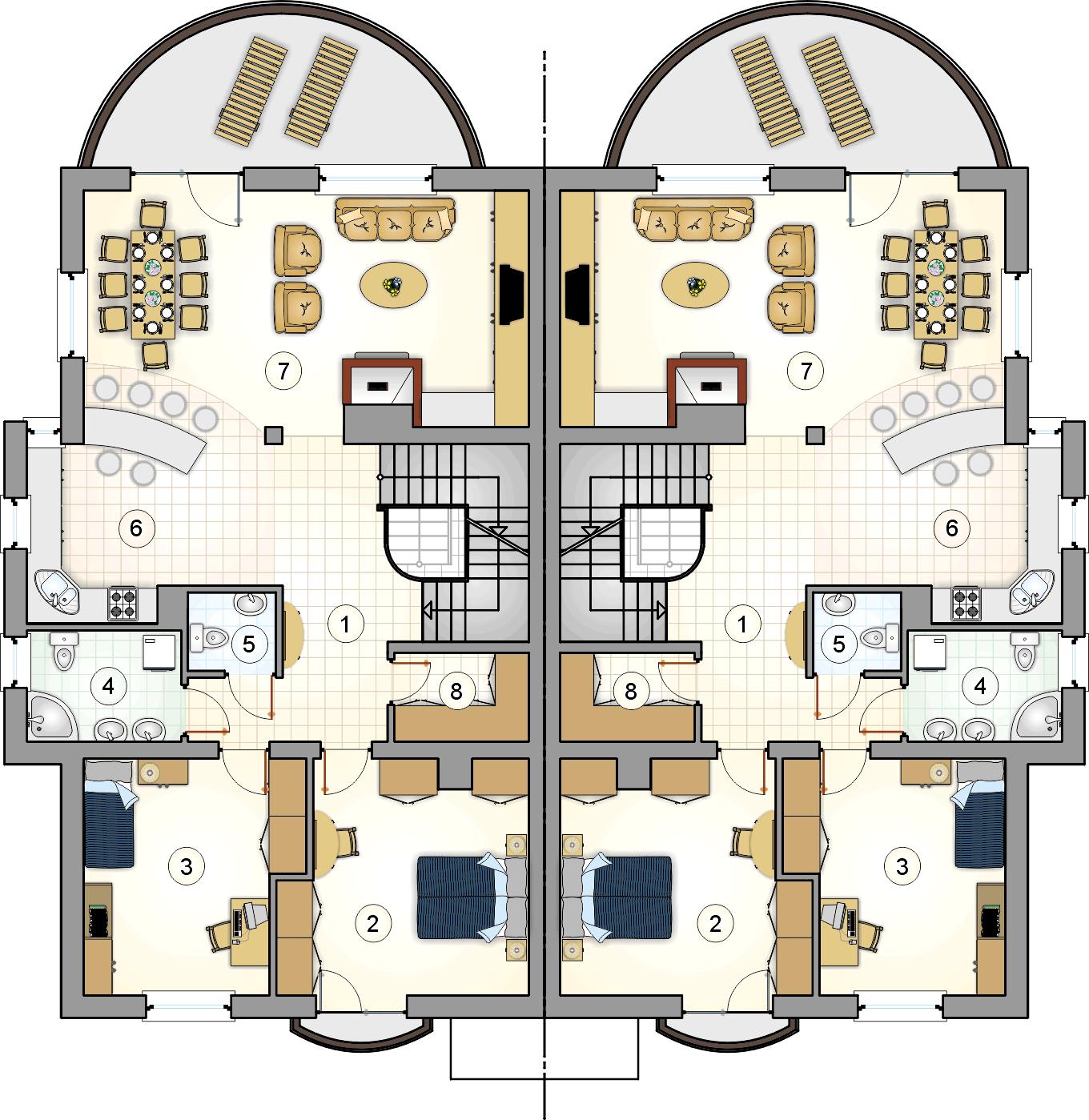 Rzut piętra - projekt Quattro