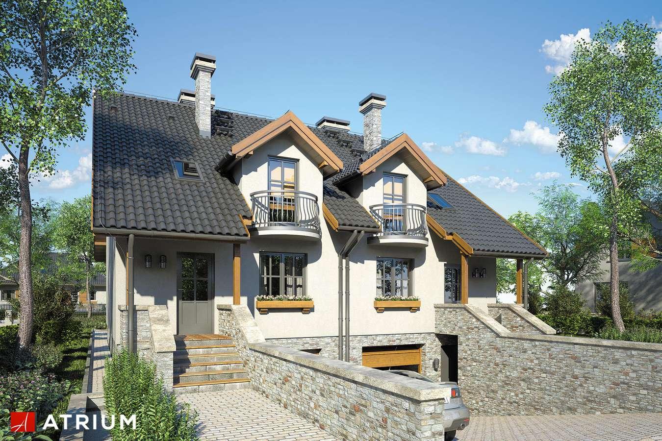 Projekty domów - Projekt domu z poddaszem TANDEM - wizualizacja 1