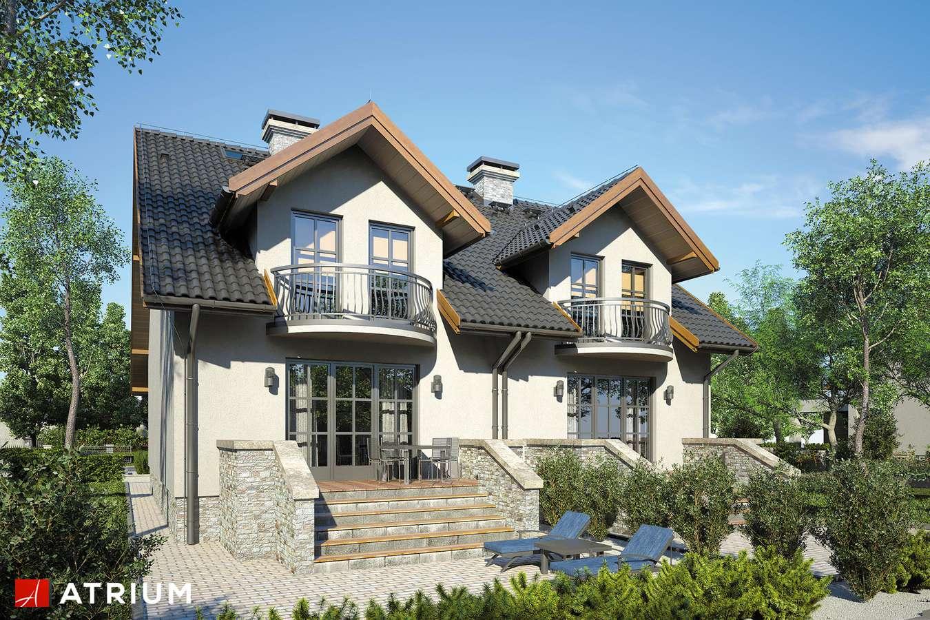 Projekty domów - Projekt domu z poddaszem TANDEM - wizualizacja 2
