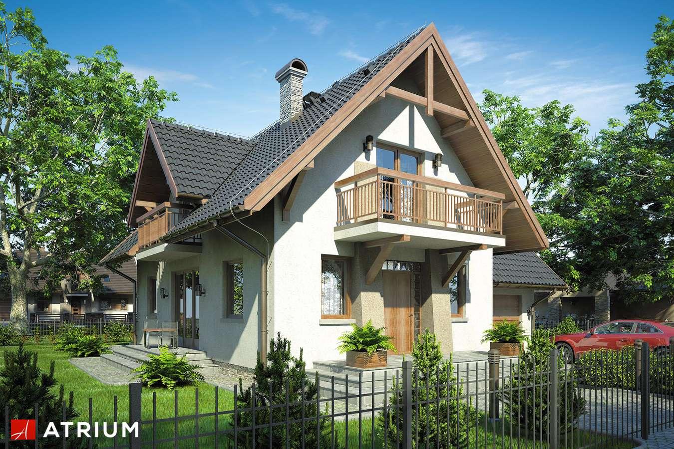 Projekty domów - Projekt domu z poddaszem KAMERTON II - wizualizacja 1