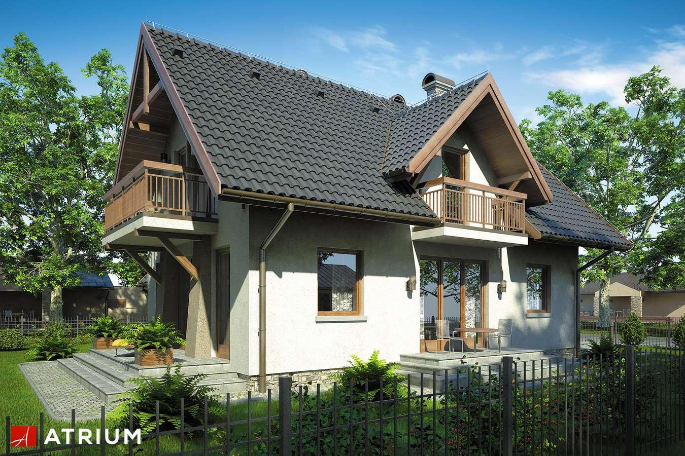 Projekty domów - Projekt domu z poddaszem KAMERTON II - wizualizacja 2