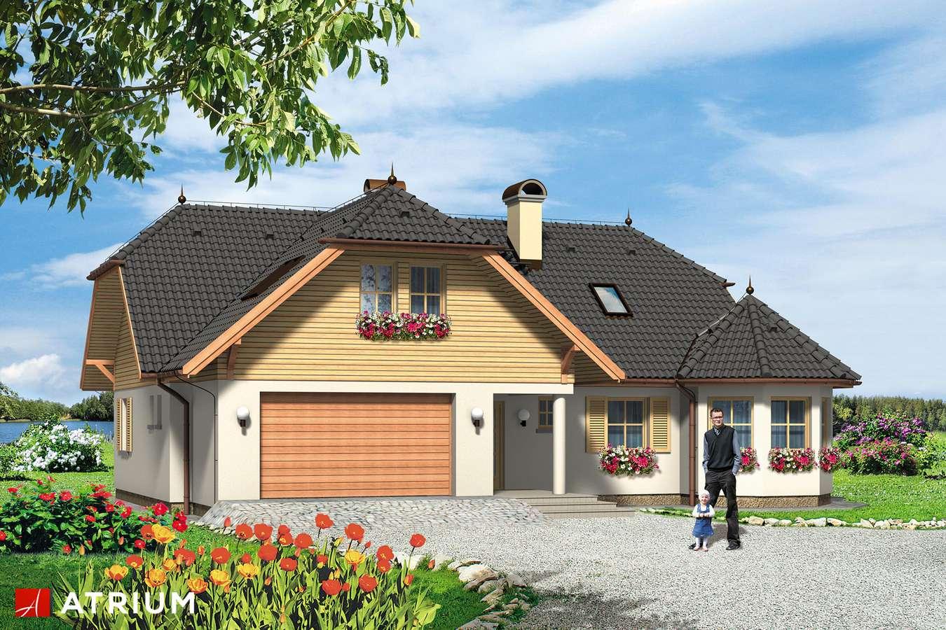 Projekty domów - Projekt domu z poddaszem APOLLO - wizualizacja 1