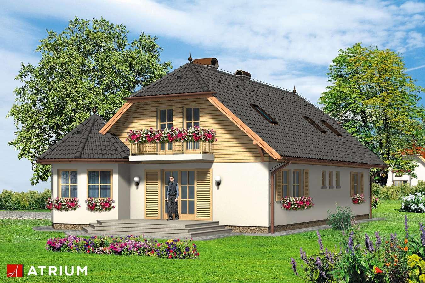 Projekty domów - Projekt domu z poddaszem APOLLO - wizualizacja 2