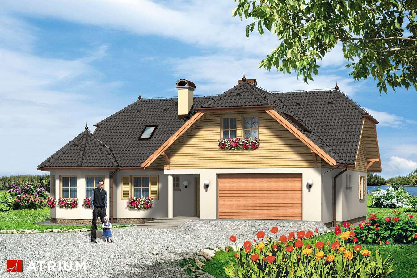 Projekty domów - Projekt domu z poddaszem APOLLO - wizualizacja 1 - wersja lustrzana