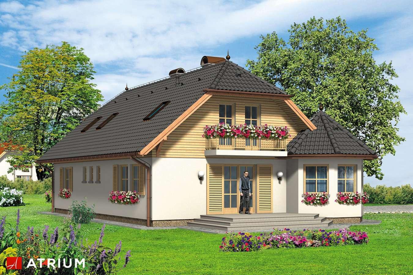 Projekty domów - Projekt domu z poddaszem APOLLO - wizualizacja 2 - wersja lustrzana