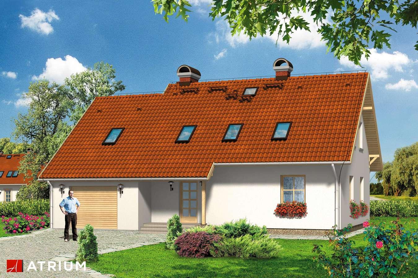 Projekty domów - Projekt domu z poddaszem MILACZEK - wizualizacja 1