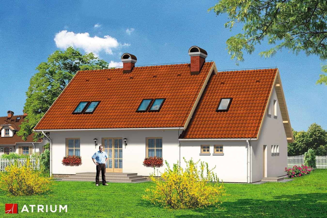 Projekty domów - Projekt domu z poddaszem MILACZEK - wizualizacja 2