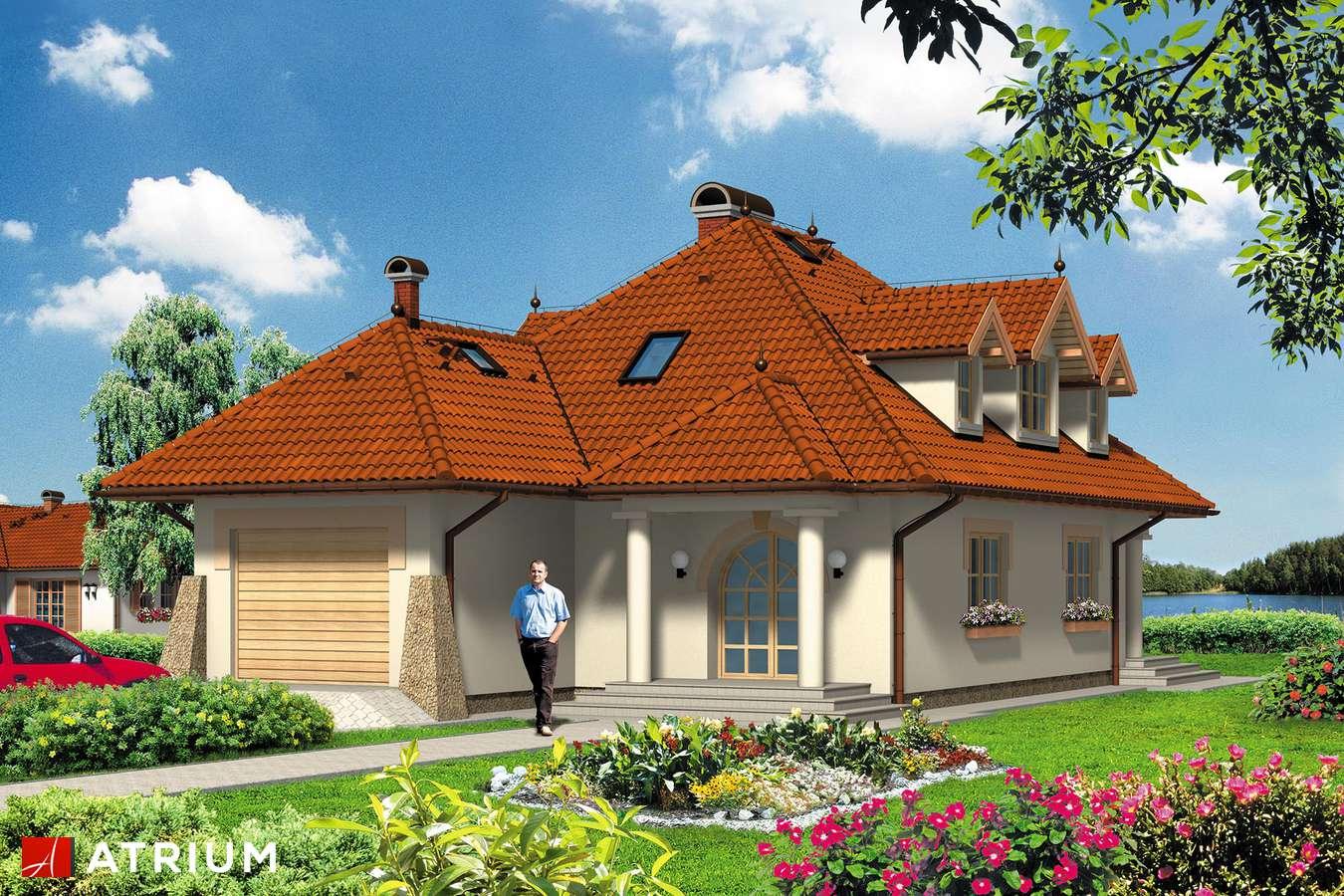 Projekty domów - Projekt domu z poddaszem FLAMING - wizualizacja 1