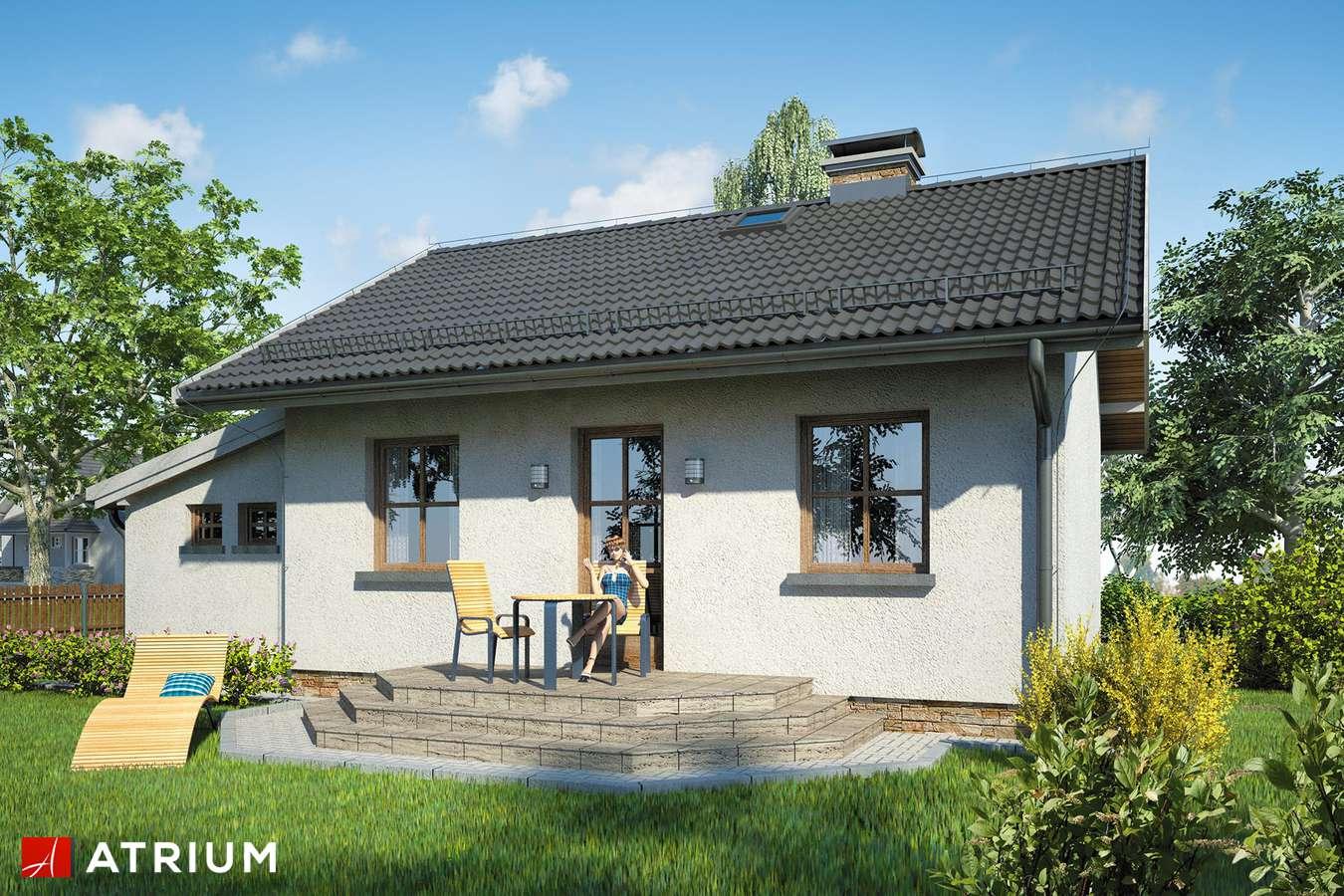 Projekty domów - Projekt domu parterowego GNIAZDKO - wizualizacja 2