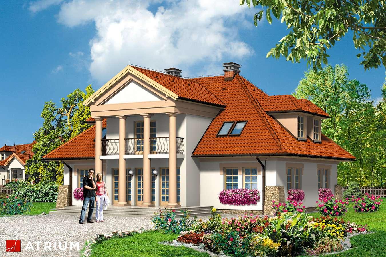 Projekty domów - Projekt domu z poddaszem KASZTELAN - wizualizacja 1