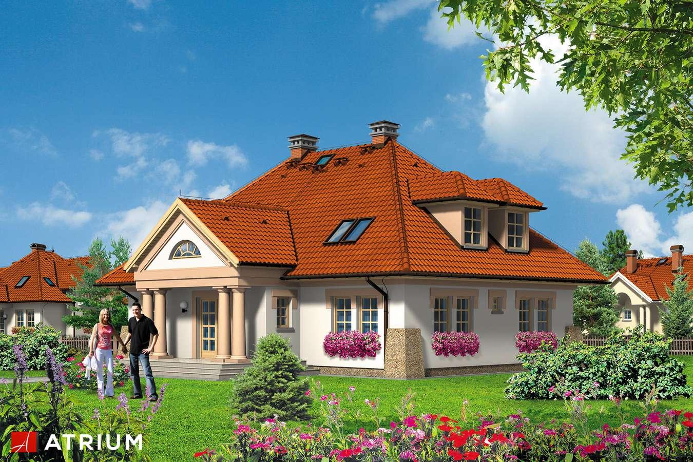 Projekty domów - Projekt domu z poddaszem KASZTELAN - wizualizacja 2