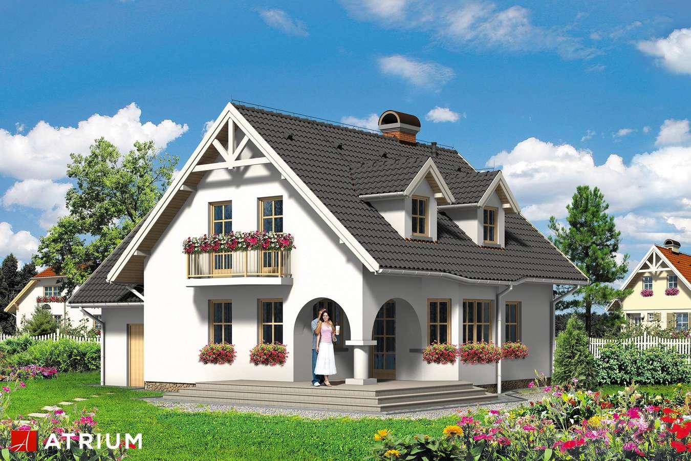 Projekty domów - Projekt domu z poddaszem MAXI MAKS - wizualizacja 1